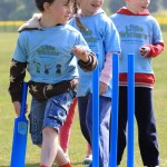 Two Boys & Girls in Little Wickets Blue T-Shirts at Pre-School Sessions - Nottingham