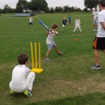 Long Angle picture of 2nd Innings group of kids playing outside at Holiday Camp in Nottingham