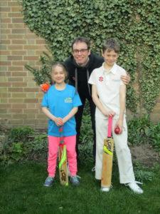 woolaton cricket club family photo in garden