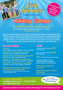 summer holiday camps flyer in A4
